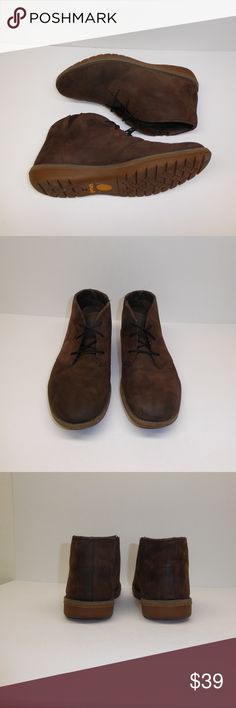 """Timberland Men's Ankle Boots Size 11 #027 Timberland Men's Chukka style ankle boots.  Size 11, style #5949R """"Earthkeeper Beeswax"""", brown leather.  These are pre-owned boots that have been gently worn and are in great condition with lots of life left in them.  All orders ship next business day. Timberland Shoes Chukka Boots"""