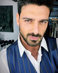 Photo by Michele Morrone in Rome, Italy. Image may contain: 1 person, beard and closeup. Italian Men, White Hair, Husband, Hollywood, Singer, Actors, Photo And Video, Sunglasses, People