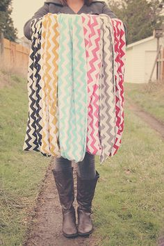 Chevron loop scarves - these are girl's but i don't care i want them all on my body now