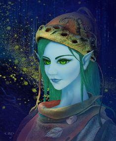 Digital painting Fantasy Art, Fairy, Creatures, Princess Zelda, Digital, Gallery, Painting, Fictional Characters, Fantastic Art