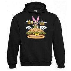 """Kapuzen Sweatshirt """"Flying Burgers"""" Fruit of the Loom, Beuteltasche, 80% Baumwolle"""
