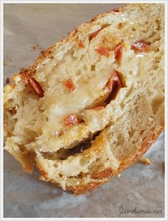 Artisan No-Knead Pizza Bread Jam Hands: Artisan No-Knead Pizza Bread Artisan Bread Recipes, Artisan Pizza, Dutch Oven Recipes, Loaf Recipes, Banana Bread Recipes, Bread Jam, Herb Bread, Bread Rolls, Knead Pizza