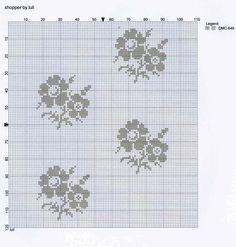 cross-stitched grey flowers