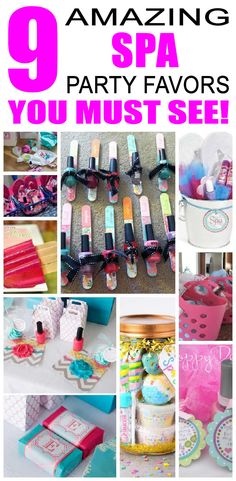 Spa party favors for kids. Simple and cute spa birthday party favors for children. Glamour party favors and more.