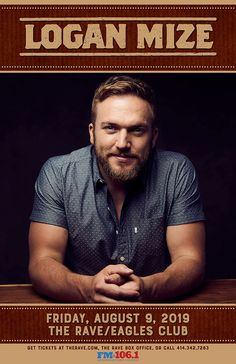 The Rave/Eagles Club/Eagles Ballroom - Live music, concerts, shows, and webcasts from Milwaukee, WI Concert Tickets, Get Tickets, Logan Mize, Country Concerts, Country Artists, Live Music, Milwaukee, Eagles, Wisconsin