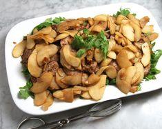 Almond pork scallopini with arugula