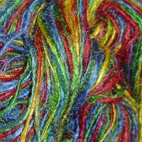Multi-colored hand painted & hand spun yarns