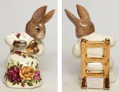 "Rose Dress-Royal Albert Beatrix Potter Figurine ""Cottontail ""  | eBay"