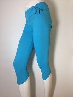 KYODAN Women's Yoga Pilates Training Turquoise Capri with waist Cinch Sz. Medium…