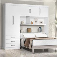 Small Bedroom Wardrobe, Bedroom Built Ins, Bedroom Closet Design, Small Master Bedroom, Modern Bedroom Design, Small House Interior Design, Home Room Design, Apartment Interior Design, Grey Bedroom Decor