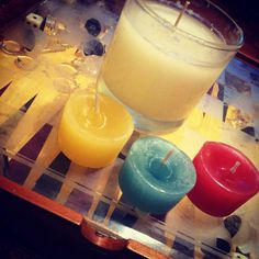 So, I am officially selling hand-made candles for a suggested donation of $10 a each as a fund-raiser to go on a mission trip to Trinidad this coming spring break! The 3 scents I have right now are morning meadow, island citrus, and buttercream cupcake. If you're interested, you can send me a Facebook message or shoot me a text or something!(: (The three in front are samples of each scent if you wanna check them out before ordering)