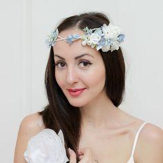 Romantic Wedding Floral Crown ,Bridal floral crown , Flower headband, White…