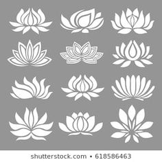 Find Vector Set White Lotus Icons On stock images in HD and millions of other royalty-free stock photos, illustrations and vectors in the Shutterstock collection. Thousands of new, high-quality pictures added every day. Rangoli Side Designs, Mehndi Art Designs, Lotus Flower Art, Lotus Art, Lotus Logo, White Lotus Tattoo, Lotus Painting, Lotus Drawing, Japanese Lotus