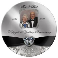 Shop Wedding Anniversary Photo Porcelain Plate created by Digitalbcon. Personalize it with photos & text or purchase as is! Diamond Wedding Anniversary Gifts, Wedding Anniversary Celebration, Anniversary Ideas, Anniversary Cakes, Happy Birthday 60, Special Text, Photo Ornaments, Wedding Gifts, Wedding Dj