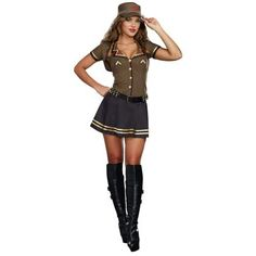 Sargent hottie sexy army costume adult costumeslingerieand sassy army brat womens costume i do not know but i have been told a sexy army costume never gets old solutioingenieria Gallery