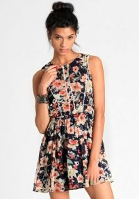 Heather Floral Print Dress By Lucca Couture -- love this website for dresses
