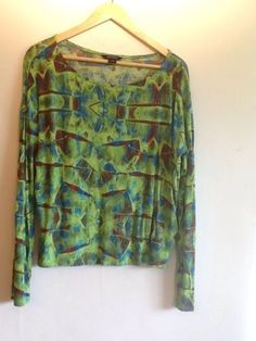 multi colour long sleeve top from monki size m (14).