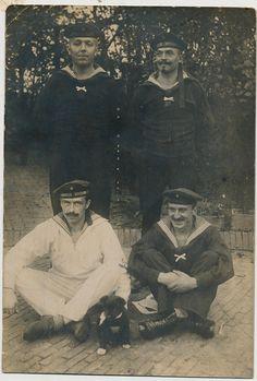 4 matrozen Pup 1910-1920