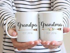 Gift for Grandparents, Mug Set, Couples Mug, Grandma Mug, Grandparent Gift, Pregnancy Reveal Mug, new grandparents, Grandpa mug,