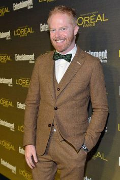 Tie The Knot 'Signature' bow tie, debuted by the handsome Jesse Tyler Ferguson. Available in November. Paisley Tie, Knit Tie, Long Ties, Dapper Men, Jacket Pattern, Paris, Lady And Gentlemen, Modern Family, Celebrity News