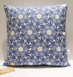 Indigo Blue Cushion cover by sera holland