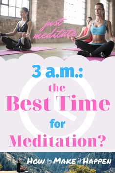 Is 3 a. The Best Time to Meditate? - The times of the day indeed play a very important role on your mind and meditation practice – or - Meditation For Health, Meditation Practices, Yoga Meditation, Meditation Benefits, Attitude Of Gratitude, Book Suggestions, Holistic Approach, Feeling Happy, How To Better Yourself