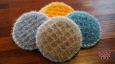색다른함께뜨기) 와플수세미 / 셀럽의 리얼와플수세미 : 네이버 블로그 Crochet Home, Love Crochet, Knit Crochet, Crochet Scrubbies, Lace Knitting Stitches, Chrochet, Couture, Baby Hats, Home Gifts