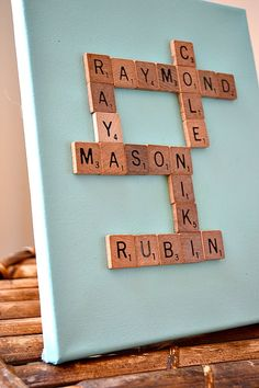 Scrabble Tile Family Name Art