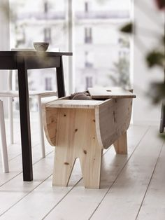 Rssyby Storage Bench from Ikea | Remodelista  (in addition, if the sides went up and it made a little  table - say for pillow seating table biz, this would really be fantastic!