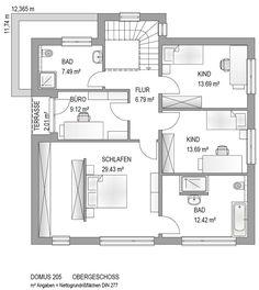 Haustyp DOMUS 205 - Bauplan Plus Projekt GmbH - Ihr Plus am Bau