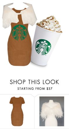 """""""DIY Starbucks Halloween costume"""" by caraghniamh ❤ liked on Polyvore"""