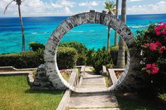 My daughter will be honeymooning in Bermuda. Bermuda Moongate - If newlyweds kiss/pass under a moongate, they'll have eternal happiness. It's true :) Bermuda Vacations, Bermuda Travel, Dream Vacations, Vacation Spots, Cruise Vacation, Portal, Claude Monet, The Places Youll Go, Places To See