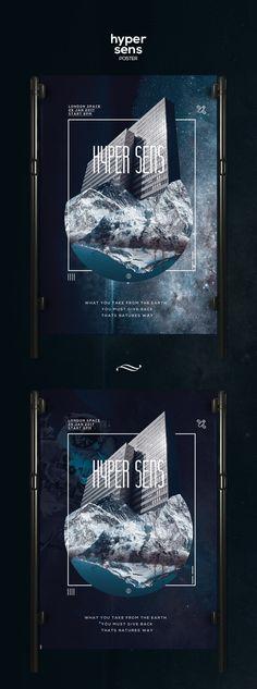Check out this @Behance project: \u201cHyper Sens Poster Template\u201d https://www.behance.net/gallery/46929547/Hyper-Sens-Poster-Template