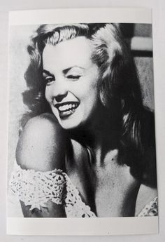 Marilyn Monroe Winking Vintage Black and White Postcard of | Etsy