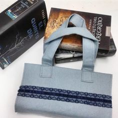 Felt book cover with handles Fabric book cover Bible by Hermitinas