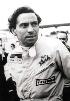 jim Clark . .  the morning of his final competition