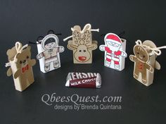 Your E-Organization - Employ An Accountant Or Do It Yourself Qbee's Quest: Cookie Cutter Christmas Slider Treats Christmas Favors, Christmas Cookie Cutters, 3d Christmas, Christmas Paper Crafts, Stampin Up Christmas, Christmas Projects, Stampin Up Cookie Cutter, Candy Crafts, Craft Show Ideas