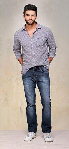 Calça jeans e xadrez: nunca sai de moda!