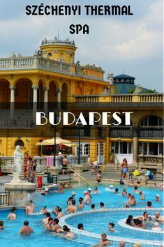 Budapest, Hungary - The Spa Capital of the World! There are several amazing and inexpensive spas you can visit while in Budapest, but the szechenyi thermal spa was our favorite. Click to find out why! @venturists