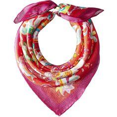 LAUREN Ralph Lauren Petra Silk Mesh Bandana (Fresh Tomato) (270 SEK) ❤ liked on Polyvore featuring accessories, scarves, bandana scarves, lauren ralph lauren, pure silk scarves, silk scarves and silk handkerchief