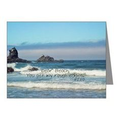 Love Notes To The Beach Rough Edges Note Cards