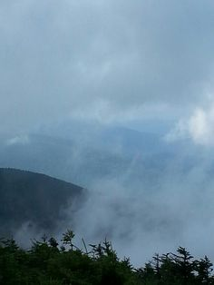 View from Mount Mansfield,  Stowe, Vermont. .