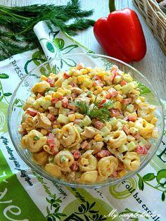 My simple kitchen: Chicken and tortellini salad - sałatka - Makaron Tortellini Salad, Pasta Salad, Chicken Salad, Macaroni And Cheese, Simple, Ethnic Recipes, Chicken Kitchen, Food, Impreza