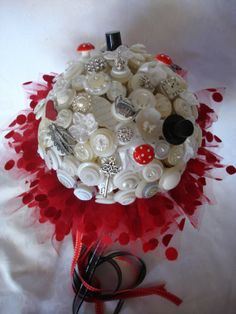 Bouquet, love this idea, a client of mine did a brooch bouquet.  I'll see if she pinned hers.