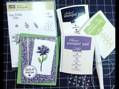 Stampin' Up! Sale-A-Bration- Avant Garden| December 2016 Customer Thank You Cards - YouTube