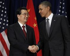 314 Analysis: As Obama, Romney spar, the scope and importance of US-China ties are obscured  (Charles Dharapak, File/ Associated Press ) - FILE - In this Nov. 12, 2011 file photo, U.S. President Barack Obama, right, meets with Chinese President Hu Jintao at the APEC Summit in Honolulu. In the simplistic narrative of U.S. presidential politics, China is a Hollywood villain, a monetary cheat that is stealing American jobs. But in the debate...  By Associated Press, Published: October 17