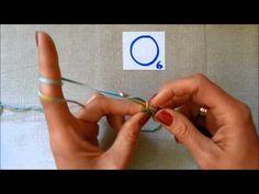 horgolás video tanfolyam 4. rész kezdő kör és kúszószem - YouTube