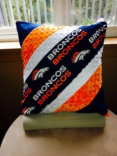 Denver Broncos custom design throw pillow cover by Therapythreads, $28.50