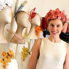Crystal Kimber @crystalkimber Loved having a play in @rebeccashare's studio today. This minimalist headpiece was definitely a favourite. Check out my post on this Spring's headband trend at seekimber.com #springcarnival #racingfashion #fotf  Sept 2015 Spring Carnival, Race Wear, Races Fashion, Hat Shop, Fascinators, Headpiece, Renaissance, Headbands, Mad