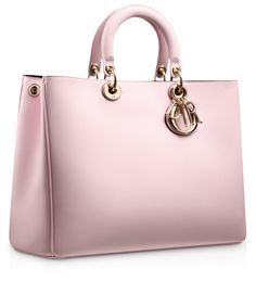 Large Rose Dragée Leather 'Diorissimo' Bag by Dior